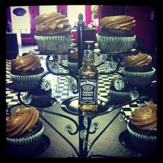 You Don't Know Jack! - A Chocolate Cupcake, soaked in Jack Daniel's #7, injected with a Jack Daniel's #7 Chocolate Ganache, topped with our Fudge Frosting spiked with Jack Daniel's #7,  covered in Chocolate Shavings. (You may think you know Jack, but think again). #bakery #cakes #cupcakes #buttercream #fondant #alcohol #jackdaniels #jackdaniels7 #indulgegourmetcupcakes
