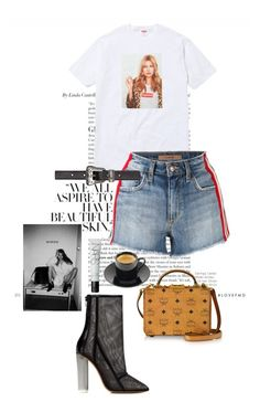 kate moss style by ragvogue on Polyvore featuring Joe's Jeans, adidas Originals, MCM, Yves Saint Laurent and NARS Cosmetics