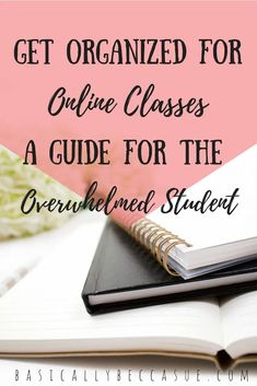 Follow this guide on how to get organized for online classes so that you can rock this semester! Online College Classes, College Courses, Education College, Physical Education, Student Online, College Teaching, Business Education, Science Education, Health Education