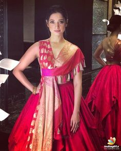Beautiful Indian Girl Tamannaah Latest Photos In Orange Lehenga Choli Wedding Dresses For Girls, Indian Wedding Outfits, Indian Outfits, Lehenga Designs, Lengha Design, Indian Designer Outfits, Designer Dresses, Red Colour Dress, Pink Dress