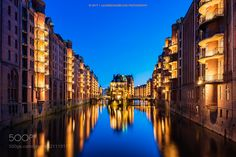 Wasserschloss and Canal Houses in Hamburg Germany by AllardSchager
