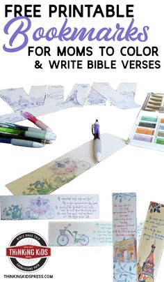 Free Printable Bookmarks to Color for Mom Free printable bookmarks to color -- with space to write a Bible verse. These Bible coloring bookmarks make a great gift for moms! Family Bible Study, Prayer For Family, Free Printable Bookmarks, Free Printables, Free Homeschool Curriculum, Homeschooling, Teaching Kids, Kids Learning, How To Make Bookmarks