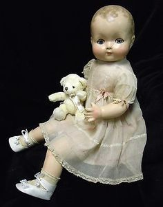 "Vintage Large (25"") Composition  Effanbee Baby Doll  1930's - 40's   Restored"