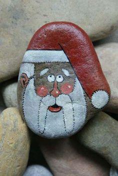 Christmas series - original hand-painted stone