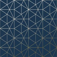 Exclusive to World of Wallpaper, the Navy Blue Metro Prism Geometric Triangle Wallpaper adds metallic gold geometric triangles to a matte navy blue background. Blue Wallpapers, Blue Backgrounds, Geometric Triangle Wallpaper, Navy Blue Bathrooms, Gold Bathroom, Bathroom Ideas, Teen Room Decor, Bedroom Decor, Navy Blue Background