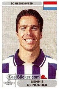 Het voetbalplaatje van Dennis de Nooijer voor de Champions League 00/01
