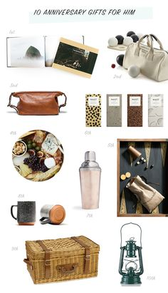 10 anniversary gifts for men
