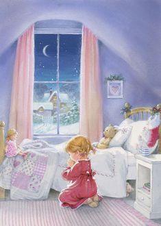 Christmas Scenes, Christmas Love, Christmas Pictures, Vintage Christmas, Christmas Illustration, Cute Illustration, Christmas Playlist, Pink Christmas Decorations, Christmas Paintings On Canvas