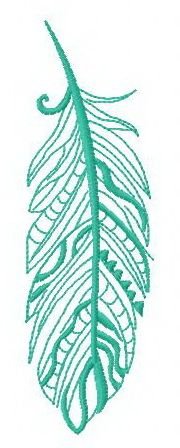 Feather 16 machine embroidery design. Machine embroidery design. www.embroideres.com