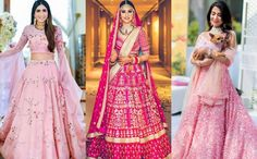 Most Popular Sabyasachi Lehenga Designs For Brides of 2019 - Latest Wedding Ideas & Inspiration Bridal Lehenga, Lehenga Choli, Pink Lehenga, Pink Icing, Ethnic Outfits, Lehenga Designs, Sabyasachi, Wedding Styles, Wedding Ideas