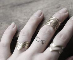 Tatuaje temporal infinito mini Set de 4 tatuajes por AnteatersInk