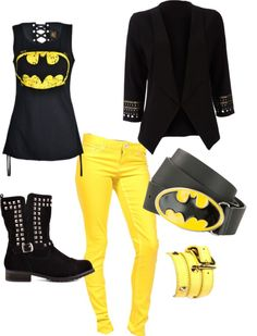"""""""DC Batman inspired look"""" by jodie-burson on Polyvore"""