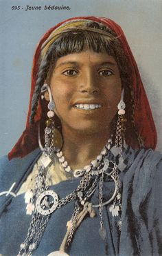 Africa | A young Bedouin woman, Algeria / Tunisia | Photographed by Lehnert and Landrock, c. 1930