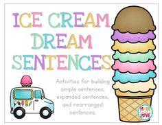 Adjective Anchor Chart, Sentence Anchor Chart, Grammar Anchor Charts, Anchor Charts First Grade, Sentence Writing, Hands On Activities, Literacy Activities, Love Teacher