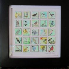 Twenty-five Itty Bitty Birdy Inchies (added framed pics!!) :) - PAPER CRAFTS, SCRAPBOOKING & ATCs (ARTIST TRADING CARDS)