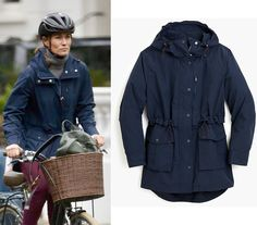 Crew Perfect rain jacket as seen on Pippa Middleton Pippa Middleton Style, My Wardrobe, Rain Jacket, J Crew, Raincoat, Fashion Outfits, Capes, Celebrities, My Style