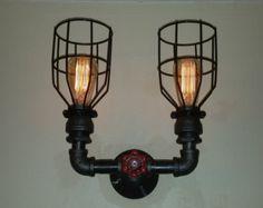 Bathroom light Industrial Sconce Wall Light by RuralIndustrial