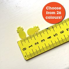 2 piece Pineapple Charms Laser Cut Acrylic Supplies - 26 Colours