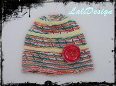 Caciulita tricotata bumbac, by LaliDesign, 20 Lei