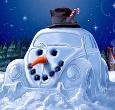 Southpoint Volkswagen serving Baton Rouge LA, New Orleans LA, Hammond, and Metairie LA. Christmas Car, Christmas Snowman, Beetle Bug, Vw Beetles, Vw Camping, Hot Vw, Combi Vw, Vw Vintage, Frosty The Snowmen
