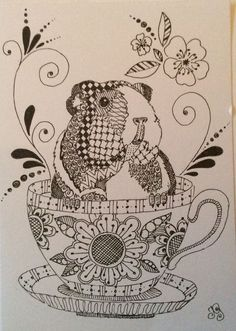 This is the most amazing guinea pig coloring sheets I've ever seen.
