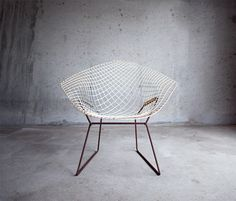 wire chair + concrete