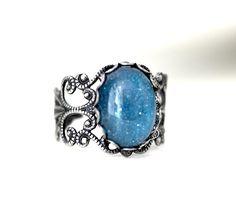 "Ring ""BLUE LAGOON"" brass w Elfenmanufaktur na DaWanda.com"