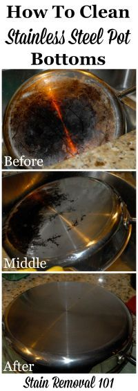 A great cleaning tip for the bottom of those pots!