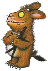 Axel Scheffler: The Gruffalo's Child - Both the Gruffalo and his child would not be so imbedded in our imaginations if Scheffler had not created such endearing images. How can you not love them?