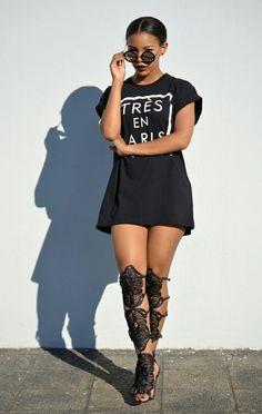 ecstasymodels: T-shirt YDE X&O,shoes - Europa Art, Shades - Zuri Kayla