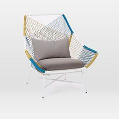 Huron Large Lounge Chair W/Cushion, Multi