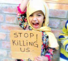 くみんちゅ @kuminchuu 私たちはアメリカの奴隷じゃない。「私たちを殺さないで」from Syria