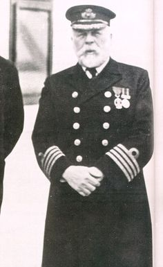 Doomed: Captain Edward John Smith went down with the Titanic. Captain Edward John Smith, born in Hanley, Stoke On Trent in Titanic Boat, Titanic Wreck, Titanic Sinking, Titanic Ship, Rms Titanic, Titanic Artifacts, British History, Local History, American History
