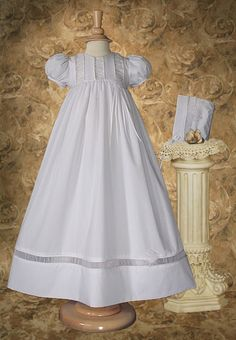 A wonderful gown for a wonderful child.