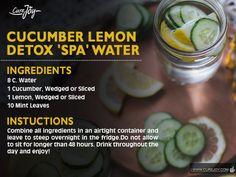 Cucumber Lemon Detox Spa Water