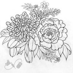 Image result for tattoo chrysanthemum