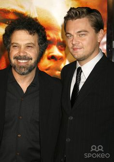 "Photo by: RE/Westcom/starmaxinc.com 2006. 12/6/06 Leonardo DiCaprio and Edward Zwick at the premiere of ""Blood Diamond"". (Los Angeles, CA)"