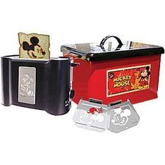 Disney Classic Mickey Mouse Toaster and Bread Box