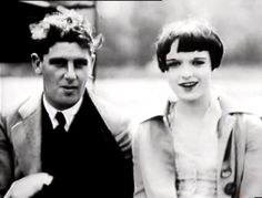 Louise Brooks with her first husband A. Louise Brooks, Roaring Twenties, The Twenties, Silent Film, Time Capsule, Divorce, 20 June, Husband, Brunette Beauty