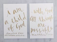 Custom 6 x 4 inch Hand Lettered Gold by LittleConfettiLove on Etsy