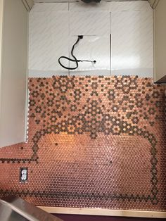 carolyns creative penny backsplash - Penny Backsplash Model