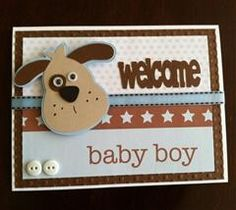 Baby boy card using Doodlecharms