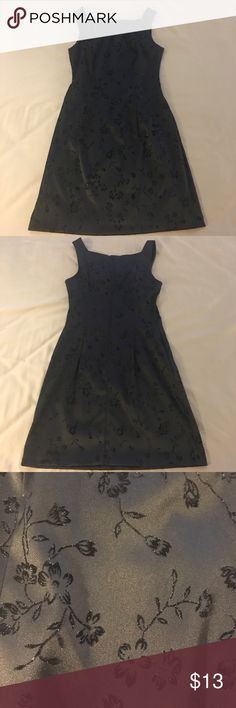 Black Cocktail Dress Has a sparkling floral design. Tag has been cut out but it is a satin like material and it fits a size 4. Great condition, no flaws. City Triangles Dresses Mini