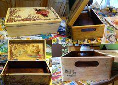 Pudełko drewniane - metoda deqoupage