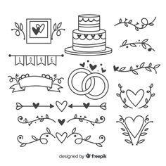 Discover thousands of copyright-free vectors. Graphic resources for personal and commercial use. Thousands of new files uploaded daily. Bullet Journal Banner, Bullet Journal Writing, Lettering Tutorial, Doodle Wedding, Banner Doodle, Doodle Art For Beginners, Page Borders Design, Wedding Ornament, Doodle Lettering