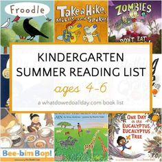 The best summer reading books for kindergarten. These picture books with rhyming word play and vocabulary challenges are perfect for 4-6 year olds. #summerreading #kindergarten #childrensbooks