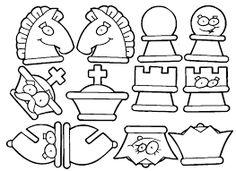 Resultat d'imatges de juegos de ajedrez para imprimir