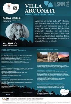 Villa Arconati Music Festival 2016 - DIANA KROLL apre la 28 edizione