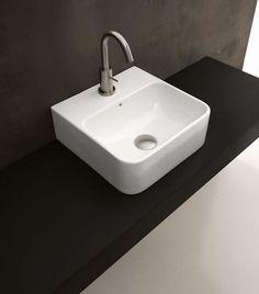 Lavabo Axa 1020 håndvask 35 x 35,5 cm med hanehul og overløb