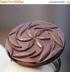 ON SALE Statement Ring  Vintage Ring  Vintage Button